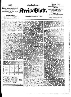 Frankensteiner Kreisblatt vom 07.07.1886