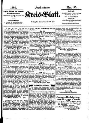 Frankensteiner Kreisblatt vom 10.07.1886
