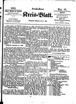 Frankensteiner Kreisblatt vom 15.07.1886