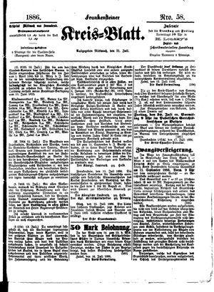Frankensteiner Kreisblatt vom 21.07.1886
