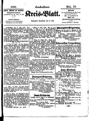 Frankensteiner Kreisblatt vom 24.07.1886