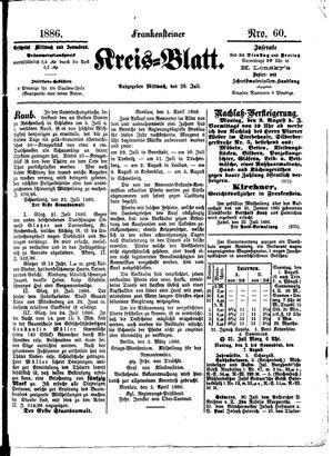 Frankensteiner Kreisblatt vom 28.07.1886