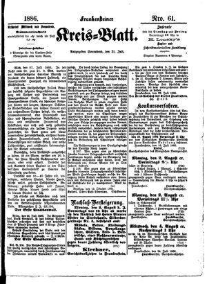 Frankensteiner Kreisblatt vom 31.07.1886