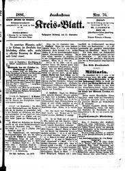 Frankensteiner Kreisblatt (22.09.1886)