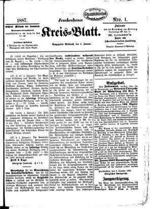 Frankensteiner Kreisblatt on Jan 5, 1887