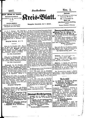 Frankensteiner Kreisblatt on Jan 8, 1887