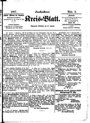 Frankensteiner Kreisblatt on Jan 12, 1887