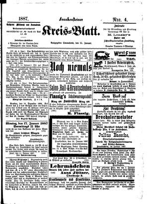 Frankensteiner Kreisblatt vom 15.01.1887