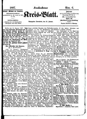 Frankensteiner Kreisblatt vom 22.01.1887
