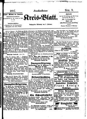 Frankensteiner Kreisblatt on Feb 2, 1887