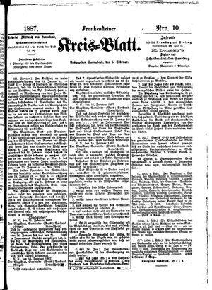 Frankensteiner Kreisblatt vom 05.02.1887