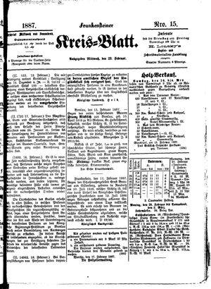 Frankensteiner Kreisblatt vom 23.02.1887