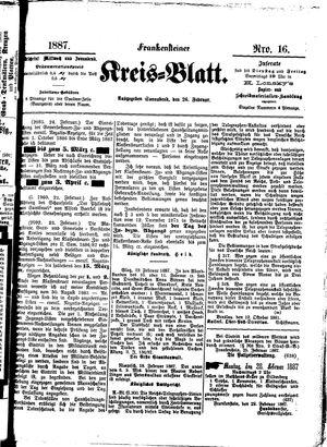 Frankensteiner Kreisblatt vom 26.02.1887