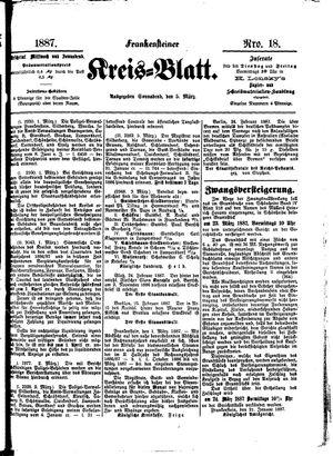 Frankensteiner Kreisblatt vom 05.03.1887