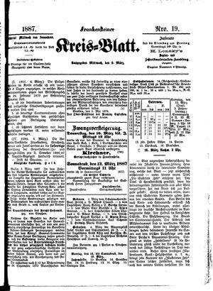 Frankensteiner Kreisblatt vom 09.03.1887