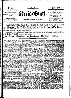 Frankensteiner Kreisblatt vom 12.03.1887
