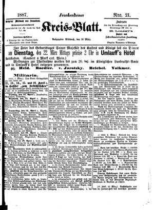 Frankensteiner Kreisblatt vom 16.03.1887