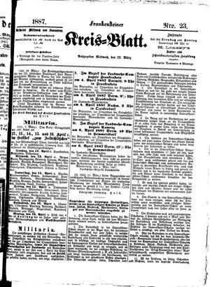 Frankensteiner Kreisblatt vom 23.03.1887