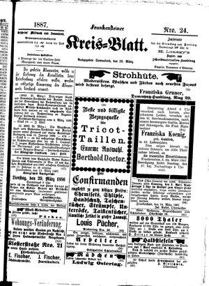 Frankensteiner Kreisblatt vom 26.03.1887