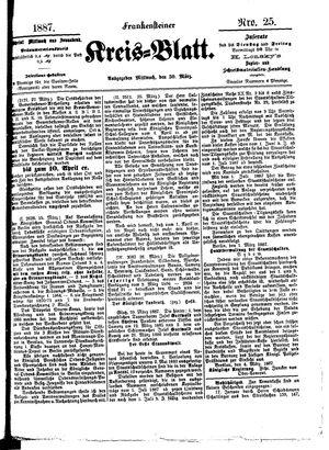 Frankensteiner Kreisblatt vom 30.03.1887