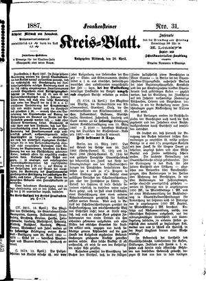 Frankensteiner Kreisblatt vom 20.04.1887