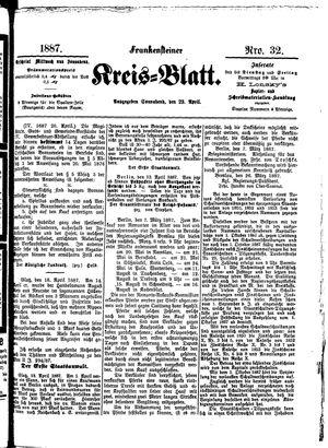 Frankensteiner Kreisblatt vom 23.04.1887