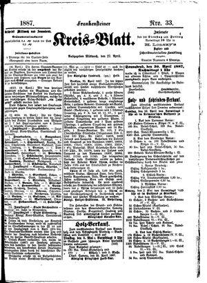 Frankensteiner Kreisblatt vom 27.04.1887