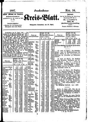 Frankensteiner Kreisblatt vom 30.04.1887