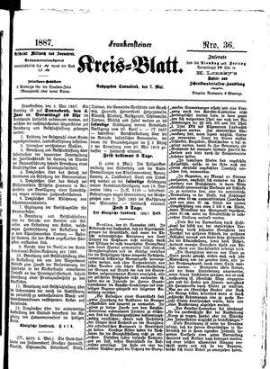 Frankensteiner Kreisblatt vom 07.05.1887