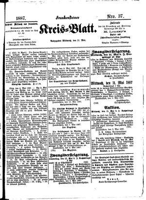 Frankensteiner Kreisblatt vom 11.05.1887