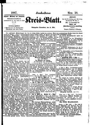 Frankensteiner Kreisblatt vom 14.05.1887