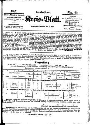 Frankensteiner Kreisblatt vom 21.05.1887