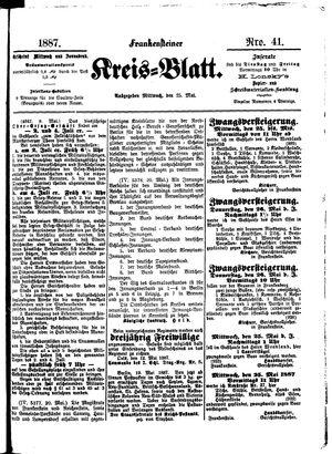 Frankensteiner Kreisblatt vom 25.05.1887
