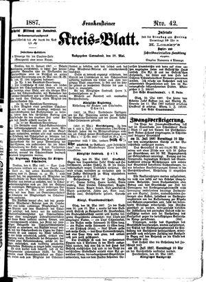 Frankensteiner Kreisblatt vom 28.05.1887
