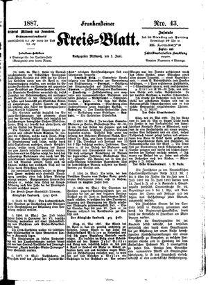 Frankensteiner Kreisblatt vom 01.06.1887