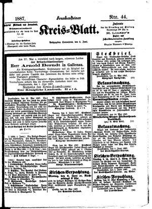 Frankensteiner Kreisblatt vom 04.06.1887