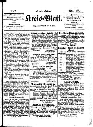 Frankensteiner Kreisblatt vom 08.06.1887