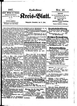 Frankensteiner Kreisblatt vom 11.06.1887