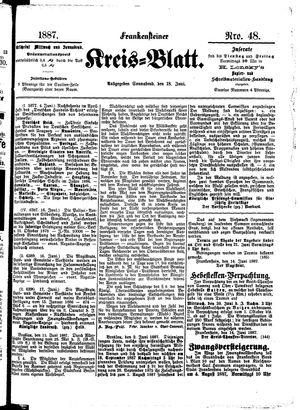 Frankensteiner Kreisblatt vom 18.06.1887