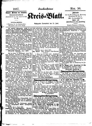 Frankensteiner Kreisblatt vom 25.06.1887