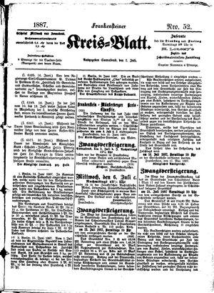 Frankensteiner Kreisblatt vom 02.07.1887