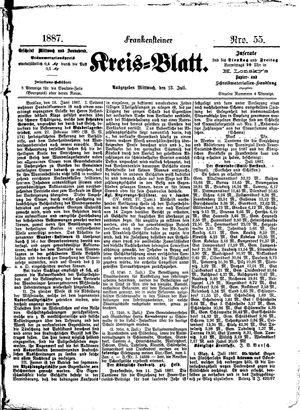 Frankensteiner Kreisblatt vom 13.07.1887
