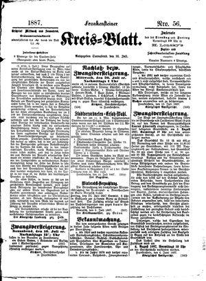 Frankensteiner Kreisblatt vom 16.07.1887