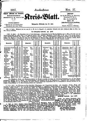 Frankensteiner Kreisblatt vom 20.07.1887