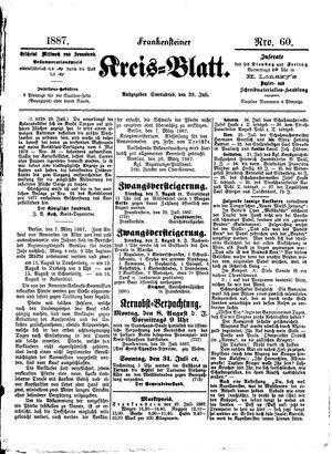 Frankensteiner Kreisblatt vom 30.07.1887