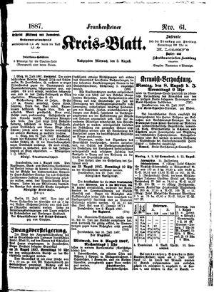 Frankensteiner Kreisblatt vom 03.08.1887