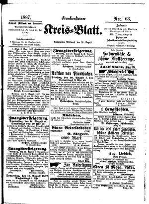 Frankensteiner Kreisblatt vom 10.08.1887