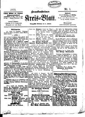 Frankensteiner Kreisblatt vom 04.01.1893