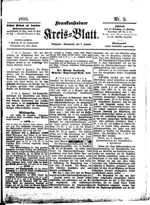 Frankensteiner Kreisblatt on Jan 7, 1893
