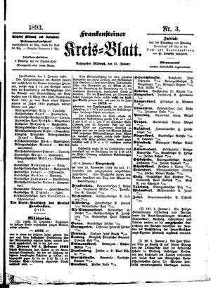 Frankensteiner Kreisblatt vom 11.01.1893